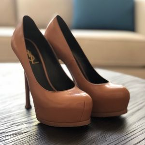 YSL pebbled leather pumps